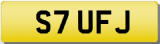 STUART F Private Cherished Registration Number Plate STU STEWART